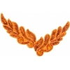 Motif Sequin/beads 26x8cm Leaf Shape Orange